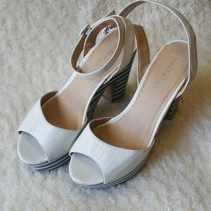 Madden Peep Toe Platform Block Heels Ankle Strap